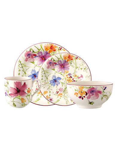 Villeroy & Boch Mariefleur 4 Piece Place Setting-MULTI-COLOURED-One Size
