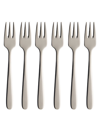 Villeroy & Boch S/6 Pastry Forks Gift Boxed-STAINLESS STEEL-One Size