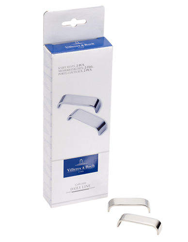 Villeroy & Boch S/2 Knife Rests Gift Boxed-STAINLESS STEEL-One Size