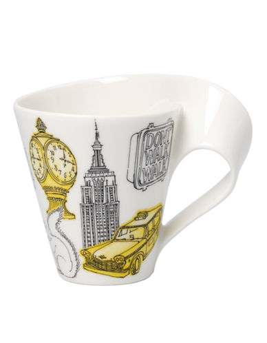 Villeroy & Boch Gift Boxed New Wave Mug New York-WHITE-One Size