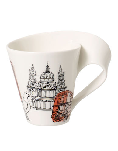 Villeroy & Boch Gift Boxed New Wave Mug London-WHITE-One Size