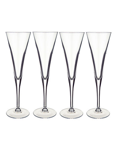 Villeroy & Boch Purismo Flute Champagne Set-CLEAR-One Size