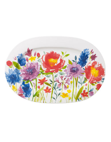 Villeroy & Boch Anmut Flowers Oval Platter-FLORAL-One Size