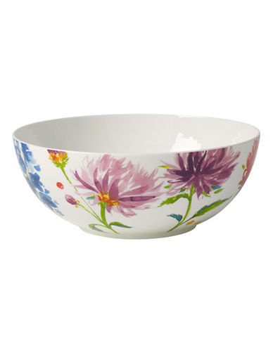 Villeroy & Boch Anmut Flowers Round Vegetable Bowl-FLORAL-One Size