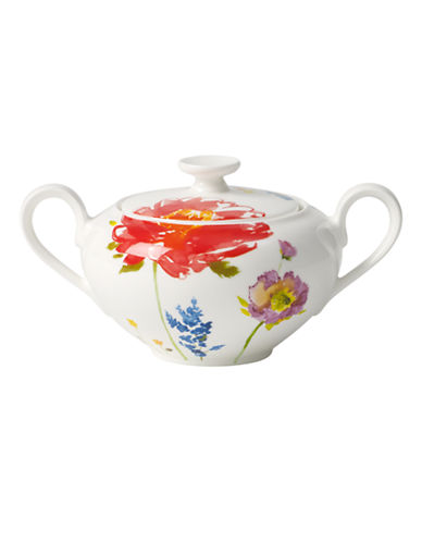 Villeroy & Boch Anmut Flowers Covered Sugar Bowl-FLORAL-One Size