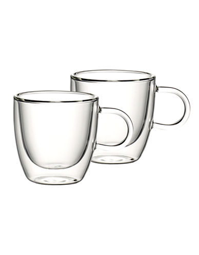 Villeroy & Boch Set of Two Small Glass Mugs-CLEAR-One Size