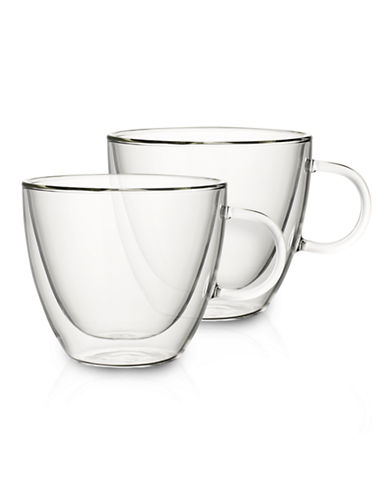 Villeroy & Boch Set of Two Large Glass Mugs-CLEAR-One Size
