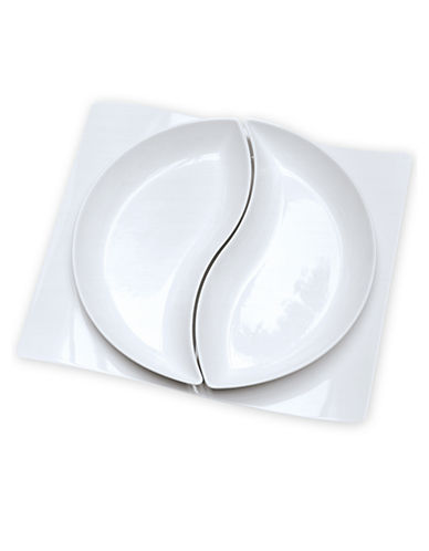 Villeroy & Boch New Wave 3 Piece Serving Set-WHITE-One Size