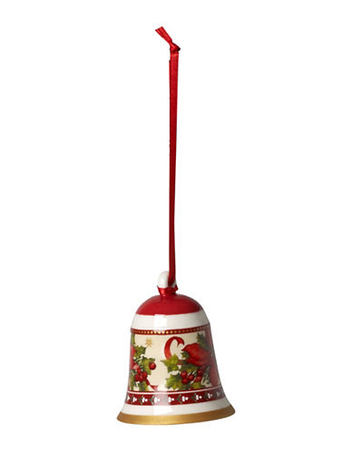 Villeroy & Boch Poinsettia Porcelain Ornament Bell-MULTI-One Size