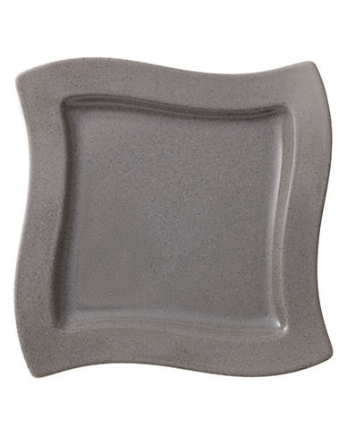 Villeroy & Boch New Wave Stone Porcelain Square Salad Plate-GREY-One Size