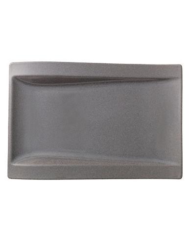 Villeroy & Boch New Wave Stone Porcelain Rectangular Dinner Plate-GREY-One Size