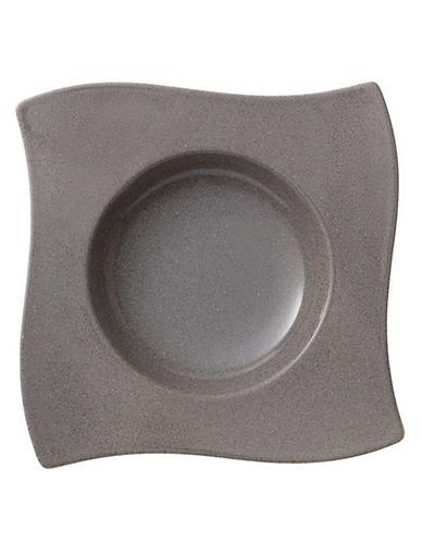 Villeroy & Boch New Wave Stone Porcelain Rim Soup Plate-GREY-One Size