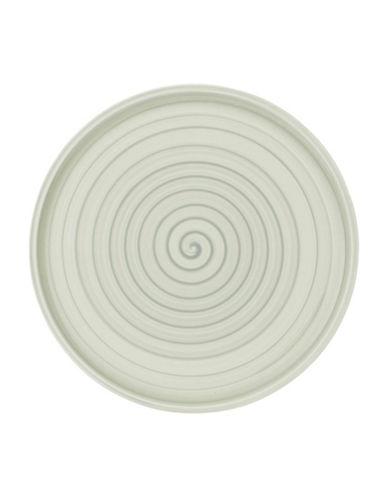 Villeroy & Boch Artesano Nature Swirl Porcelain Buffet Pizza Plate-GREEN-12.5