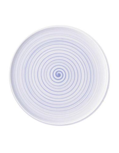 Villeroy & Boch Artesano Nature Swirl Porcelain Buffet Pizza Plate-BLUE-12.5
