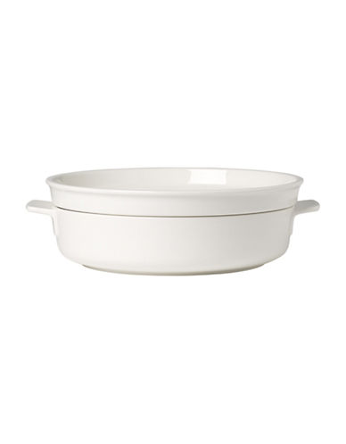 Villeroy & Boch Clever Cooking Porcelain Small Round Baking Dish with Lid-WHITE-One Size