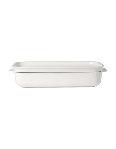 Villeroy & Boch Clever Cooking Porcelain Large Rectangular Baking Dish with Lid-WHITE-One Size