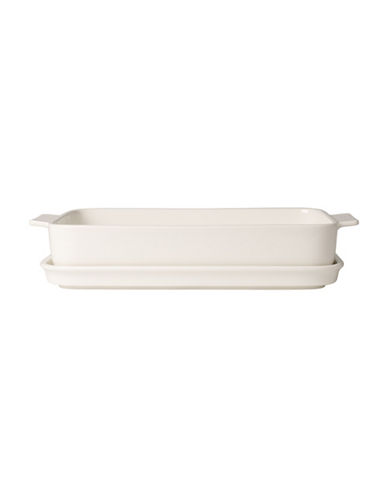 Villeroy & Boch Pasta Passion Porcelain Large Lasagna Pan with Lid-WHITE-One Size