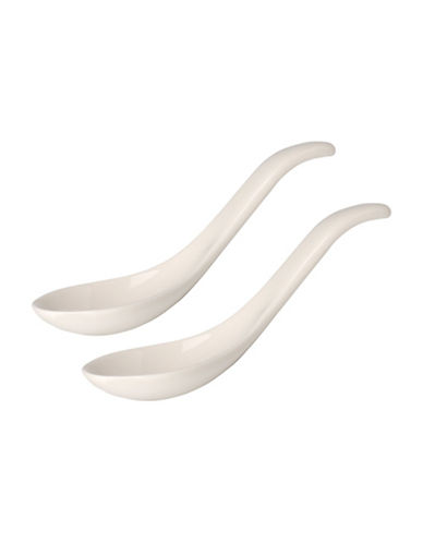 Villeroy & Boch Set of Two Soup Spoons-WHITE-One Size