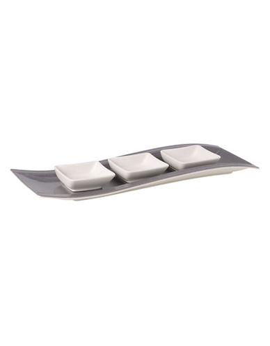 Villeroy & Boch New Wave Stone Antipasti Set-GREY-One Size