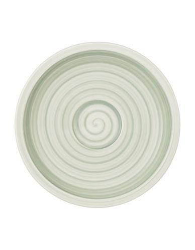 Villeroy & Boch Artesano Nature Swirl Porcelain Espresso Saucer-GREEN-One Size