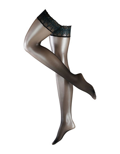 Falke Lunlelle 8 Stayups-BLACK-Small