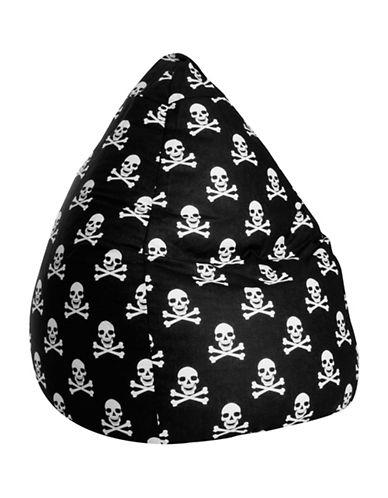 Sitting Point Totenkopf Bean Bag Chair-BLACK/WHITE-One Size