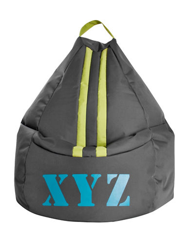 Sitting Point Bean Bag Xyz-TEAL/GREY-One Size