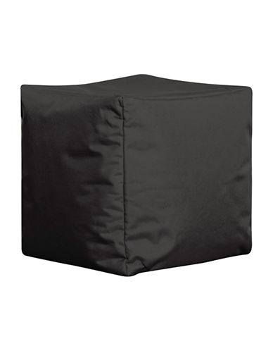 Sitting Point Cube Brava Bean Bag Ottoman-BLACK-One Size