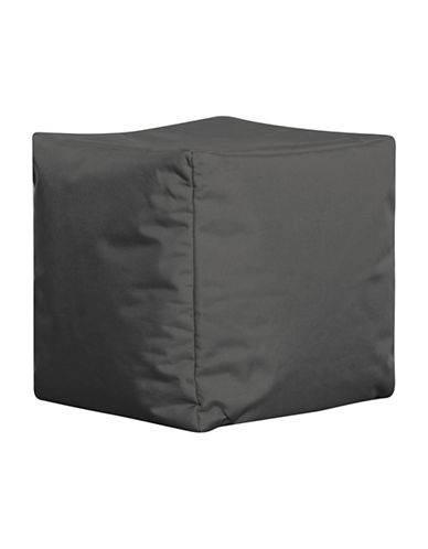 Sitting Point Cube Brava Bean Bag Ottoman-GREY-One Size