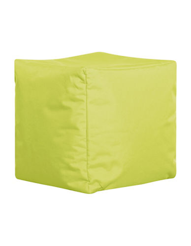 Sitting Point Cube Brava Bean Bag Ottoman-GREEN-One Size