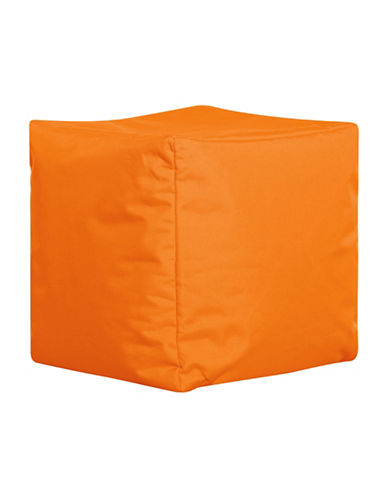 Sitting Point Cube Brava Bean Bag Ottoman-ORANGE-One Size