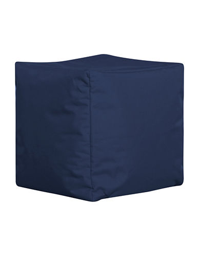 Sitting Point Cube Brava Bean Bag Ottoman-NAVY-One Size