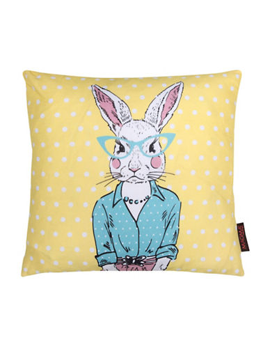 Magma Miss Rabbit Cushion-YELLOW-One Size