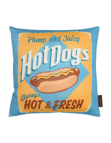 Magma Hot Dogs Cushion-BLUE-One Size