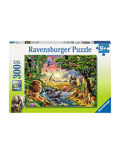 Ravensburger Evening At The Waterhole Puzzle-MULTI-One Size