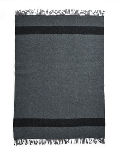 HudsonS Bay Company Caribou Throw   Charcoal-GREY-One Size