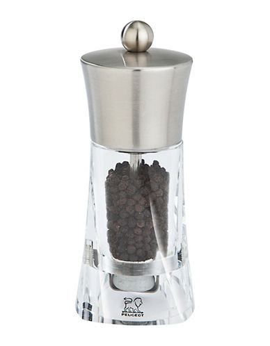 Peugeot Ouessant Clear and Stainless Steel Pepper Mill-CLEAR-One Size