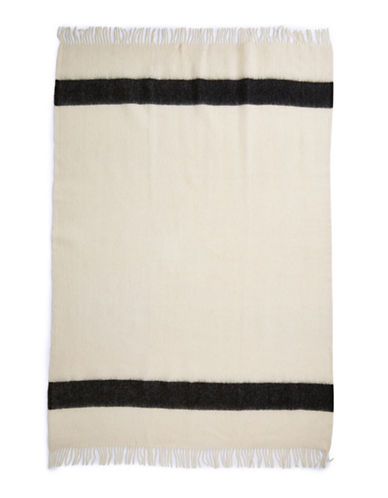 HudsonS Bay Company Caribou Throw   Oxford White-OXFORD-One Size