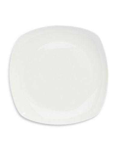 Glucksteinhome Quincy Square Dinner Plate-WHITE-One Size