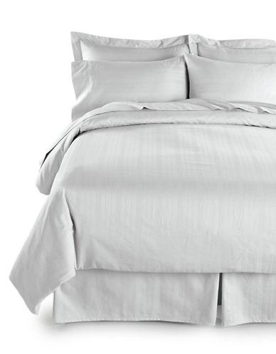 Distinctly Home Two-Piece 520 Thread-Count Dobby Stripe Pillowcases-WHITE-King