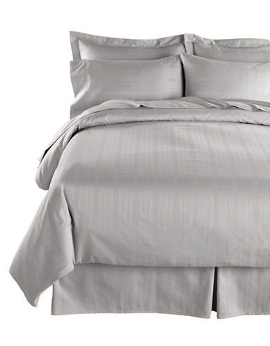 Distinctly Home Four-Piece 520 Thread-Count Stripe Sheet Set-GREY-Twin