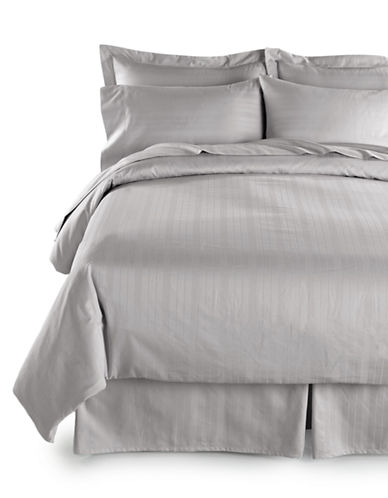 Distinctly Home Two-Piece 520 Thread-Count Dobby Stripe Pillowcases-GREY-Standard