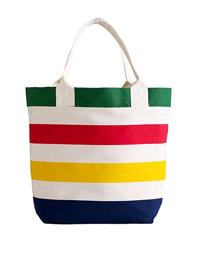 HudsonS Bay Company Multi Stripe Canvas Tote-MULTI-One Size