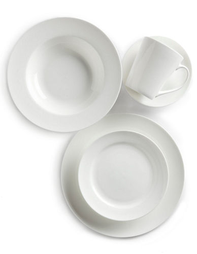Glucksteinhome Quincy Coupe 6 inch Appetizer Plate-WHITE-One Size