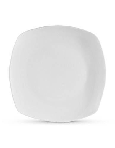 Glucksteinhome Quincy Square 6 inch Appetizer Plate-WHITE-One Size