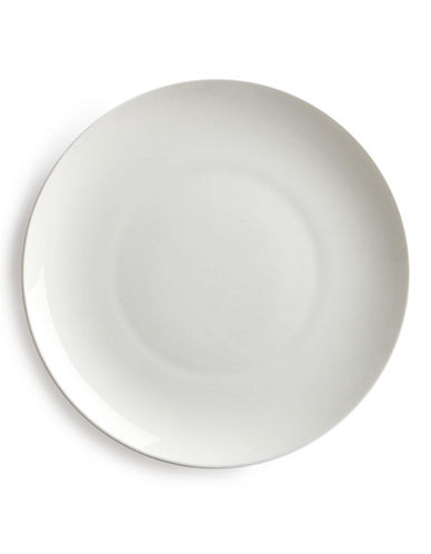Glucksteinhome Quincy Coupe Dinner Plate-WHITE-One Size