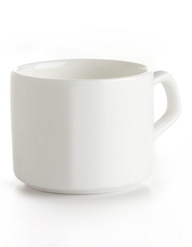 Glucksteinhome Quincy Pinstripe Espresso Cup-WHITE-One Size 84925836_WHITE_One Size