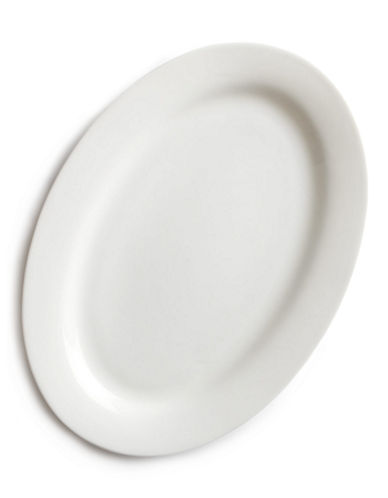 Glucksteinhome Quincy Oval Platter-WHITE-One Size