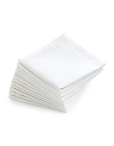 Glucksteinhome Catering Set of 12 Cocktail Napkins-WHITE-One Size