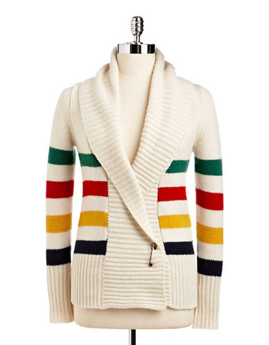 HudsonS Bay Company Wrap Cardigan-WHITE-Small